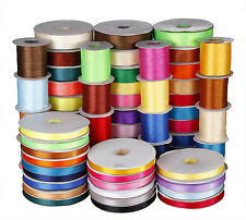 25YDS 3MM 6MM 9MM 16MM 38MM Double Face Side satin ribbon 4 wedding many colors