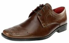 Mens Red Tape Langdon Tan Brown Leather Brogue Lace Up Shoes UK 7 8 9 10 11 12