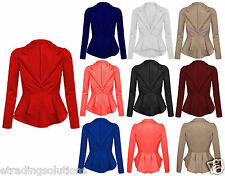Womens Ladies Winter Jacket Blazer Coat Top UK 4 6 8 10 12 14 16 18 20 22 *ScbJk