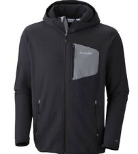 Men's Columbia Scale Up Full Zip Hooded Jacket  Black-Omni Wick Size Large