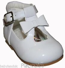 Infant Girls White Patent Walking Shoes sizes 2-3-4-5-6