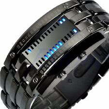 New Luxury Men Women Black Stainless Steel Date Digital LED Bracelet Sport Watch
