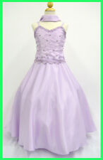 New Girl Formal Lilac Dress Pageant Wedding Flower Girl Graduation size 4 14 16