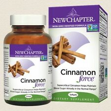 New Chapter CINNAMON FORCE 60 or 120 Softgel Supports Healthy Blood Sugar Levels