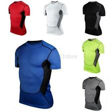 New Mens Compression Under Base Layer Sports Gear Wear Athletic Shirt Tight Tops