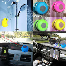 Mini Waterproof Wireless Bluetooth Handsfree Mic Suction Speaker Shower Car