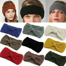 New Crochet Headband Knit Hairband Flower Bow Winter Women Ear Warmer Headwrap