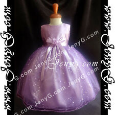 #SP01 Flower Girl/Christening/Formal/Holiday/Party Gown Dress, Purple 0-5 Years