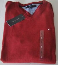 Tommy HOMME PULL NEUF 100% Coton ROUGE COLV tailles M, L, XL dispos 2015