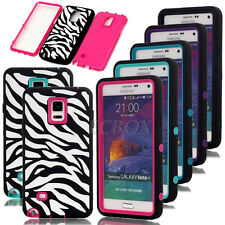 Zebra  Patterned Rugged Shockproof Combo Cases Cover For Samsung Galaxy Note 4