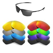 Walleva Replacement Lenses for Oakley Half Wire 2.0 Sunglasses-Multiple Options