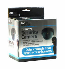 Dummy Fake CCTV Dome Security Camera Flashing Red LED Indoor Outdoor