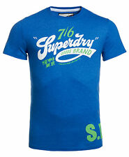 New Mens Superdry Factory Second Vintage Goods Brand T-shirt Royal Marl