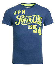 New Mens Superdry Factory Second Pipso T-Shirt Ensign Marl
