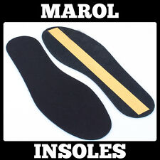THIN LEATHER INSOLES SHOE INSERTS PADS BOOTS COLOUR BLACK