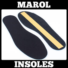THIN LEATHER INSOLES SHOE INSERTS PADS BOOTS COLOUR BLACK 1 Pair