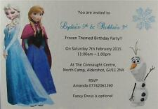 Anna Elsa Frozen Personalised Birthday Party Invites Or Thank You And Envelopes