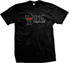 Wine a Hug in a Glass- Drinking Wine Lover Funny Sayings Slogans Mens T-shirt