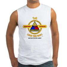 "1ST ARMORED DIVISION ""OLD IRONSIDE"" EMBLEM SLEEVELESS /TANK TOP SHIRT"