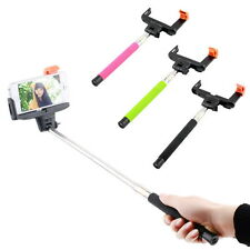 Bluetooth Shutter Extendable Handheld Selfie Stick Monopod for Samsung iPhone F5