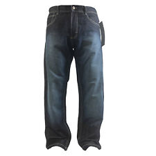 SOUTHPOLE MENS JEAN RELAXED FIT 4180-2145 RAW DARK BLUE