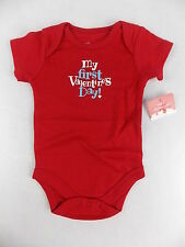 My First Valentines Day One Piece Body Suit Choose Infant Size Short Sleeve #573