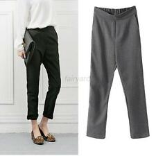 New Women OL Ladies Casual Pants Elastic Waist Pencil Harem Pants Trousers S-XL