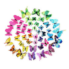 12pcs 3D Butterfly Sticker Art Design Decal Wall Home Decor Room Decorations F5