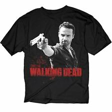 The Walking Dead Tv Show Rick Grimes Pointing Gun T-Shirt New Official Tee