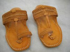 MEN'S PURE LEATHER TRADITIONAL INDIAN SANDALS HIPPIE FLAT SANDAL ALL SIZES CHART