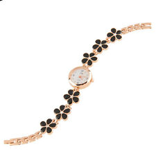 Women Daisies Flower Style Golden Strap Analog Quartz Wrist Watch Bracelet