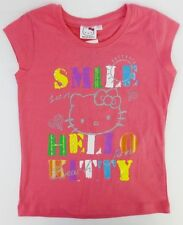 Girls Hello Kitty Pink T-Shirt with Smile Hello Kitty Design Style TOY-79105