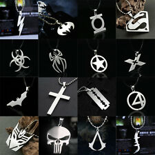 Anime Super Heroes Stainless Titanium Steel Silver Charming Pendant Necklace