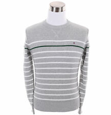 Tommy Hilfiger Men Classic Crew-Neck Stripe Long Sleeve Sweater - Free $0 Ship