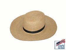 New Authentic Amish Straw Hat all sizes USA made