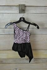 New! Dottie Loves Girls Pink/Black Leopard Dance Outfit (Small or Medium)