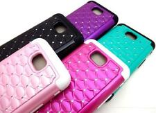FOR LG Ultimate 2 / L41C STUDDED HARD + RUBBER SILICONE SKIN CASE CELL PHONE