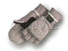 Majestic 3422P Ragg Wool Fingerless Thinsulate Gloves Warm Mittens XS/M/L/XL