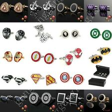 Mens Wedding Party Rectangle Shirt Marvel Superheroes Charm Square DC CuffLinks