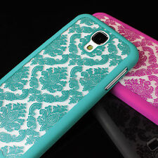 For Samsung Galaxy S4 S5 Note 4 Damask Vintage Pattern Rubberized Case Cover