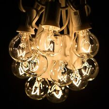 25 Foot Outdoor Globe Patio String Lights - Set of 25 G30 Clear Bulbs