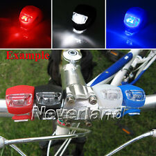 Silicone LED Light Bicycle Bike Head Front Rear Tail Flash Strobe Lamp 3 Colors