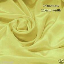 """#16 mellow yellow pure silk dress fabric 45"""" wide 14momme crepe de chine cloth"""
