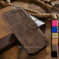 iPhone 5 / 6 / 6 Plus Handy Leder Tasche Etui Flip Case Hülle Cover Wildleder