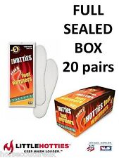 20 PAIRS - LITTLE HOTTIES FOOT WARMERS Riding Hiking Skiing Fishing Golf Insole