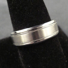 Men TITANIUM RING Multigrain Satin Brush 7mm Wedding Band Size 9, 10, 11, 12, 13