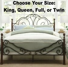 Bronze Iron Bed Frames Bedroom Furniture Frame Headboard King Queen Full Twin