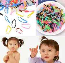 Rubber Hairband Rope Kid Ponytail Holder Elastic Hair Band Ties Braids 400pcs hs