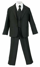 Boys Kids Children Formal Dress Suit Black Infant Toddler Size S-XL 2T-4T 5-20