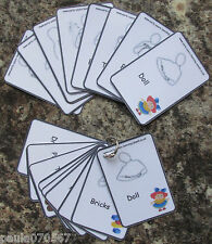 Basic first Makaton and Early Years learning picture cards, 9.5cm x 6.5cm